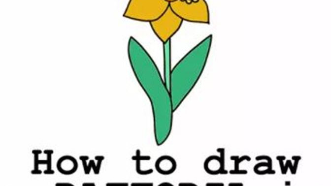 How to draw a daffodil in nine steps