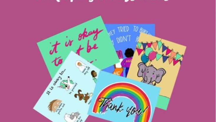 Pack of 5 Greetings Cards