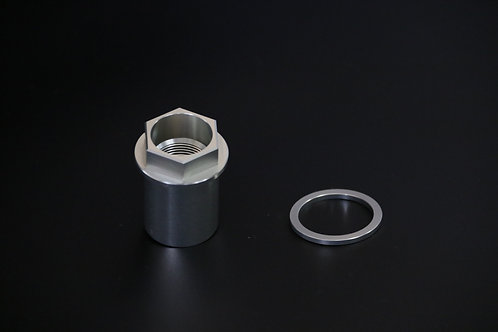ZRX1100/1200 オーリンズ正立フロントフォーク対応 フロントアクスルナット 【シルバー】
