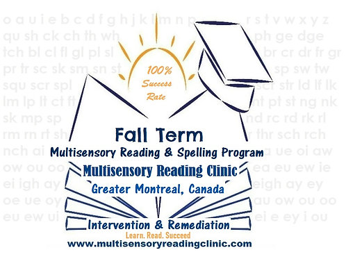 Fall Multisensory Reading & Spelling Program