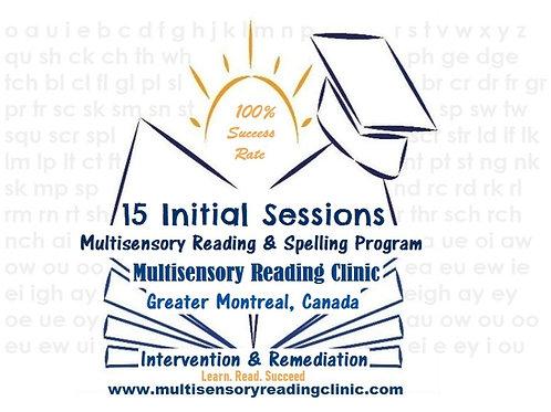 15 Initial Sessions Multisensory Reading & Spelling Program