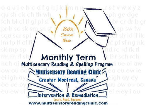 Monthly Multisensory Reading & Spelling Program