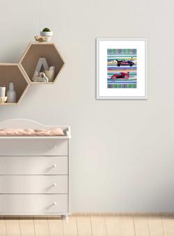 2.2 blue sky bubble atelier keepsake mini memory quilt framed interior nursery