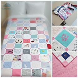 memory quilt keepsake patchwork baby clothes onesie blanket heirloom
