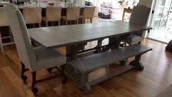 Poplar with Weathered Gray Stain and Semi-Gloss Finish