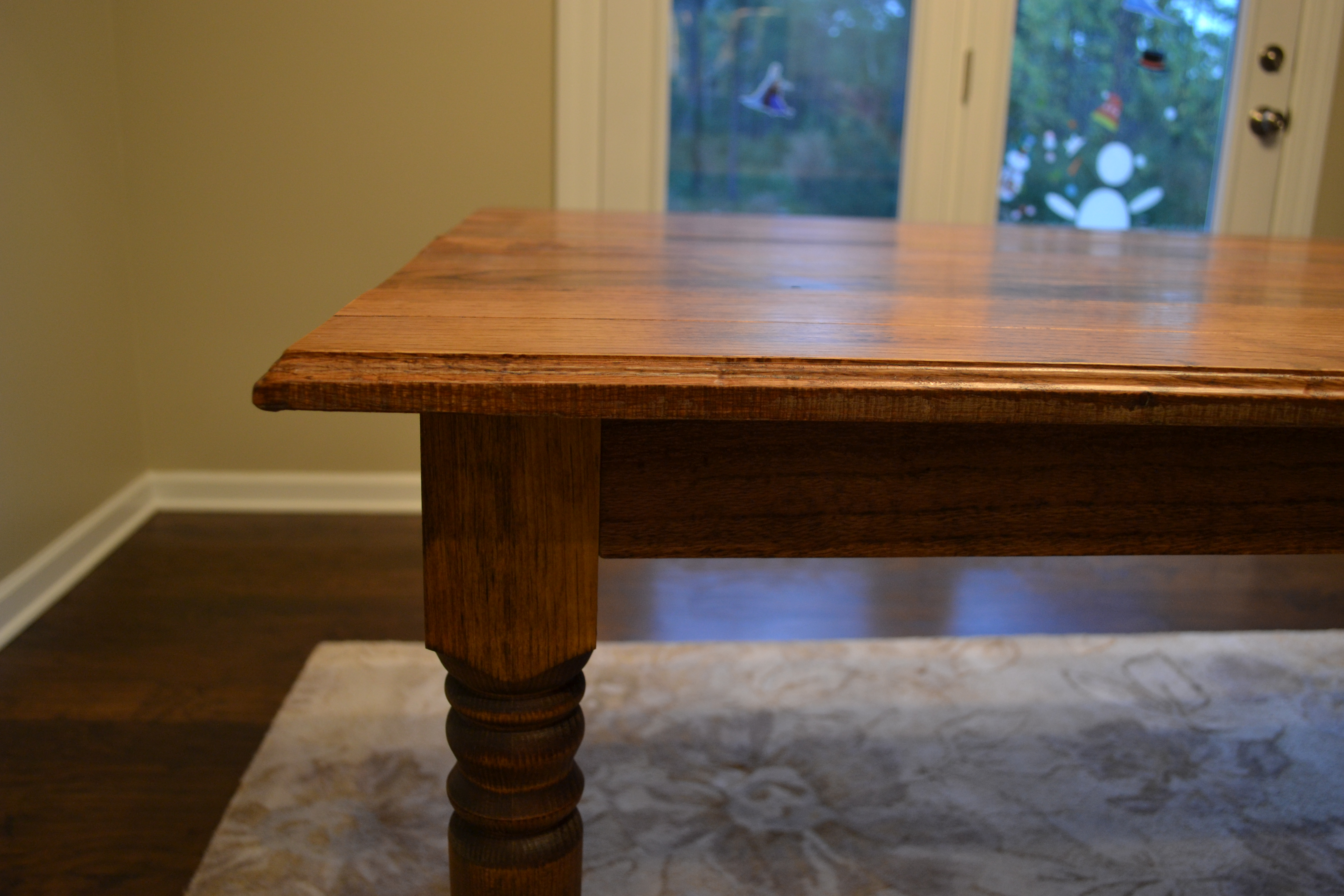 Red Oak with Provencial Stain and Satin Finish