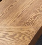 Red Oak with Honey Stain and Low Gloss Finish