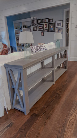 Poplar with Weathered Gray Stain and Satin Finish