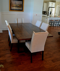 Hickory with Walnut Stain and Satin Finish