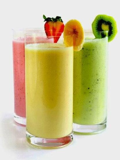 Молочный коктейль с фруктами