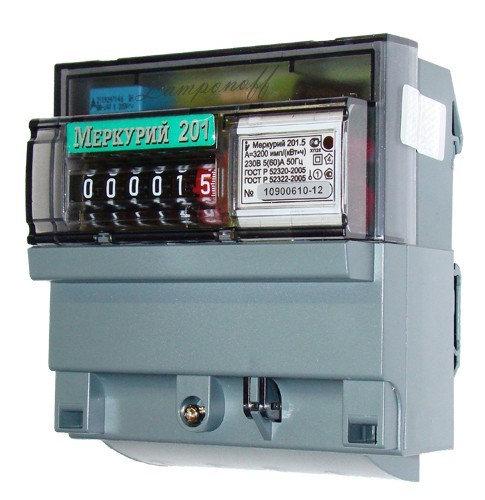 Счетчик э/энергии 1-фаз., 5 - 60А Меркурий