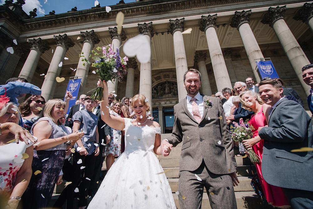Wedding Confetti, photographed by Nessworthy Photography in Leeds
