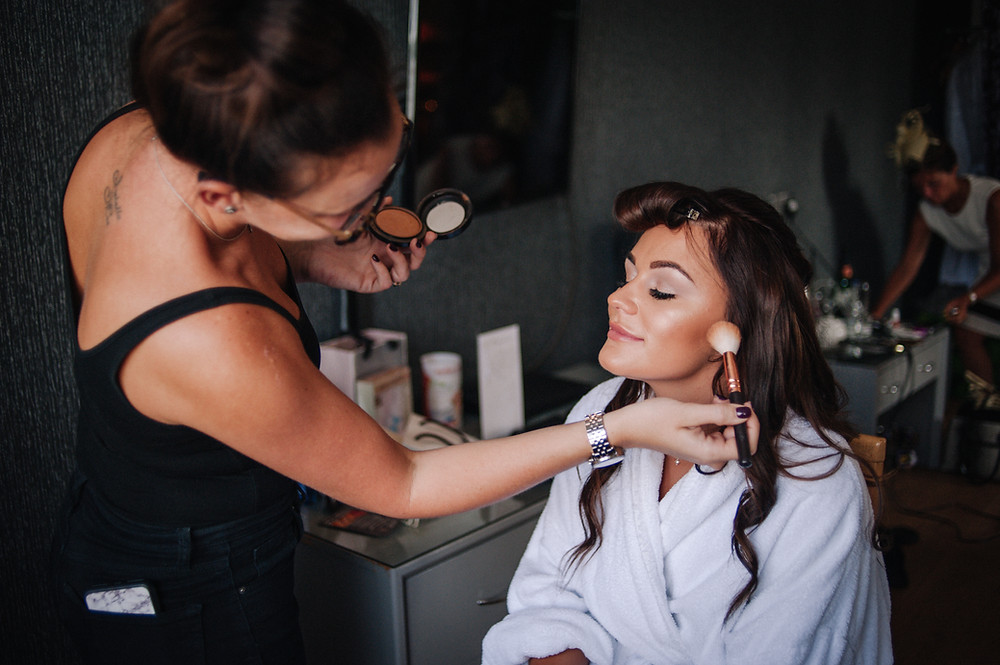 Bridal prep photograph by Nessworthy Photography, Lytham, Lancashire