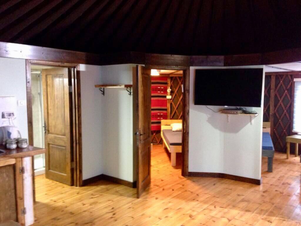 פארק היורטה -  הפרדה לחדרים