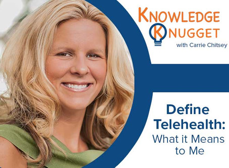 Define Telehealth: What It Means to Me