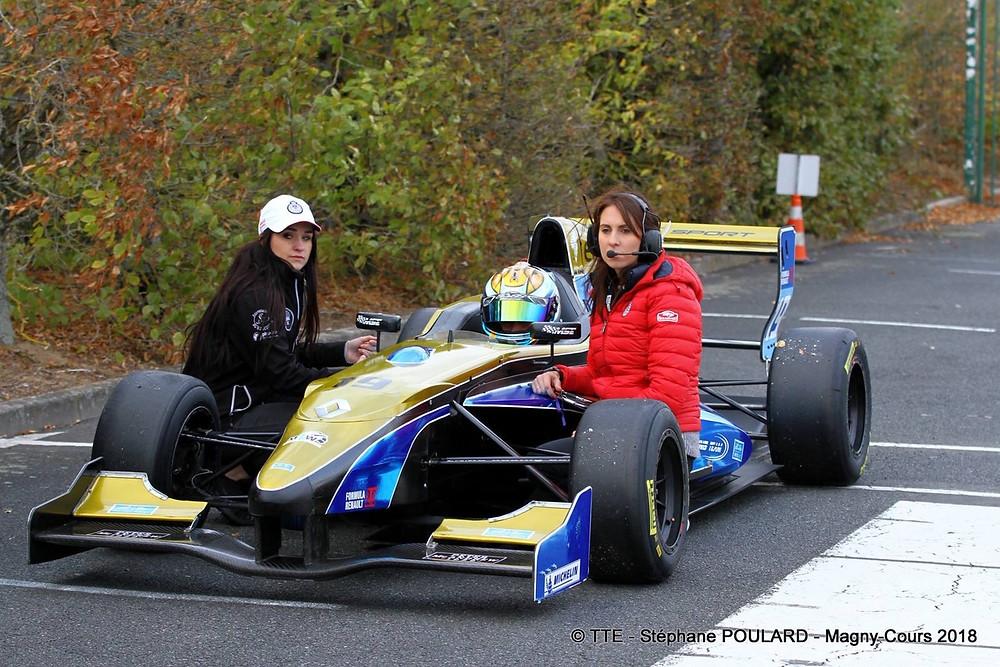 Team manager MSE RACING Team avec ma mécano Alison Gaudry et mon pilote Simon Escallier eam
