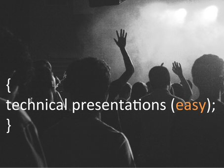How to make technical presentations easy