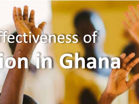 Visualizing effectiveness of teacher instruction in Ghana