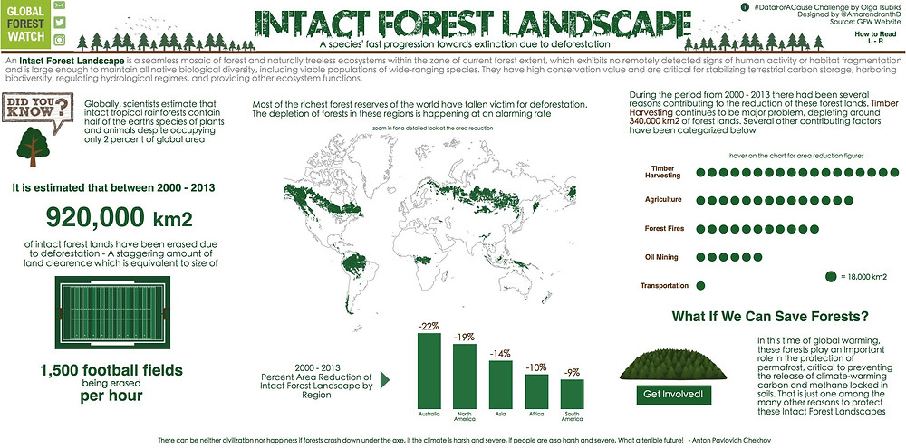 Deforestation Trends Around The World challenge for Global Forest Watch