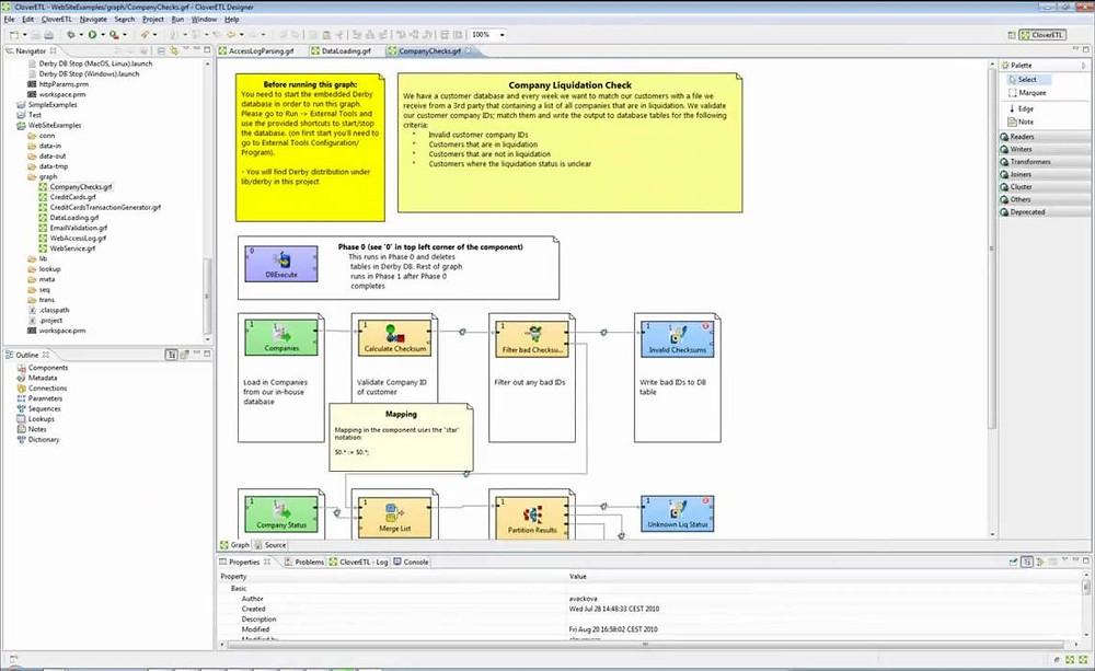 Data preparation tools for Tableau CloverETL UI