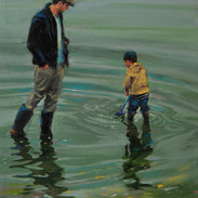 FATHERS DAY oil on canvas 9 x 12 in..JPG