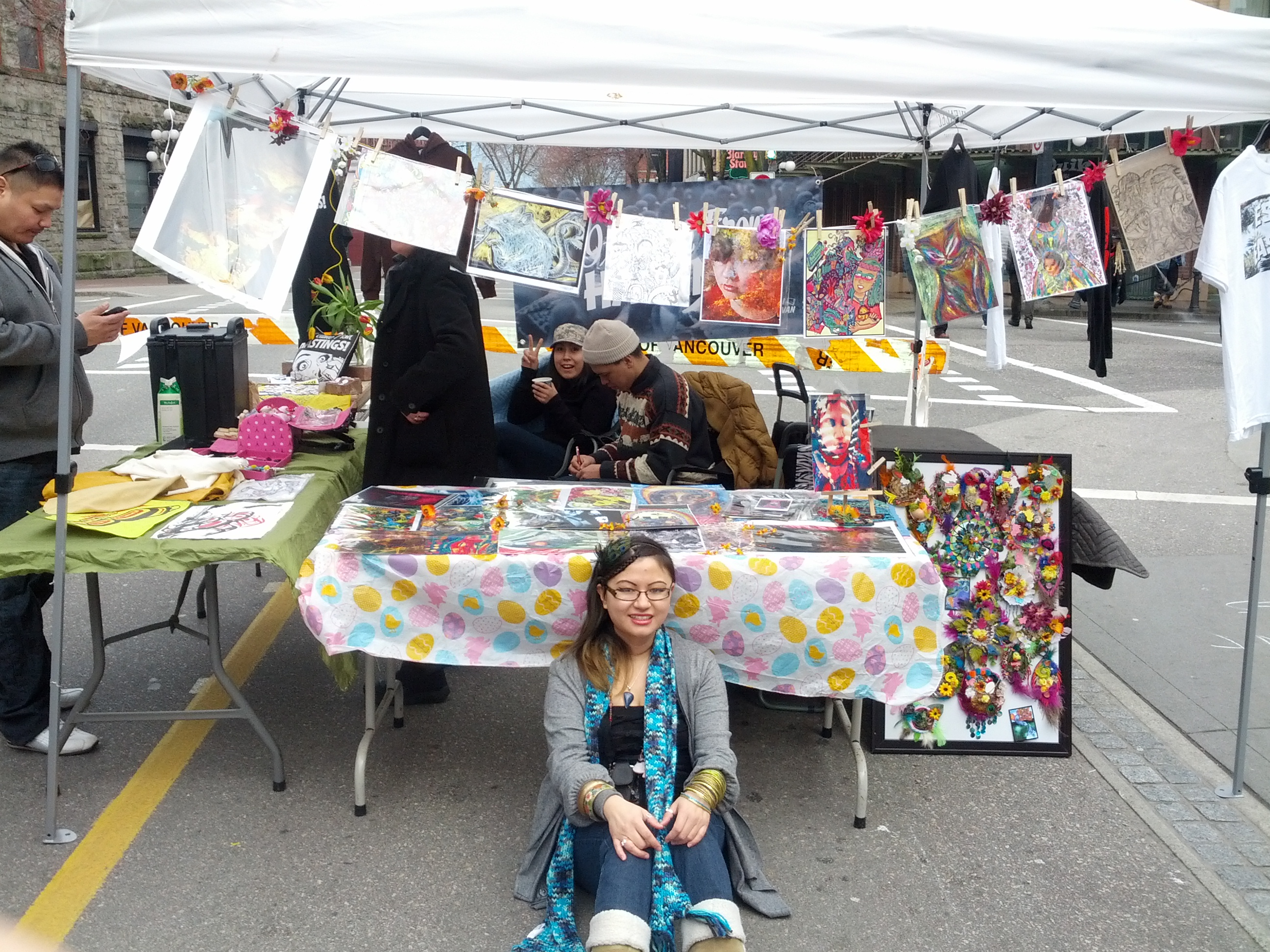 Art Market in Downtown Eastside