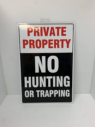 Private Property - No Hunting Sign