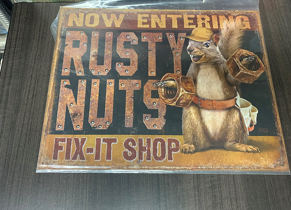 Rusty Nuts-Sign
