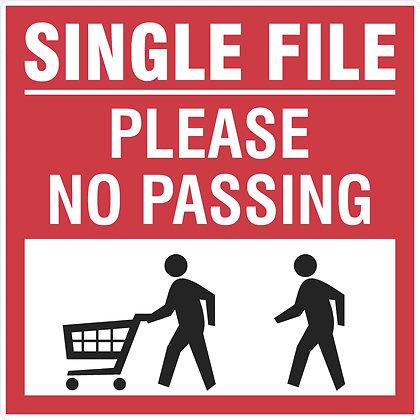Single File Floor Decal