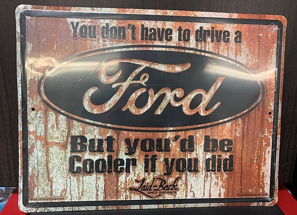 Ford-Rusty Cooler Embossed Sign