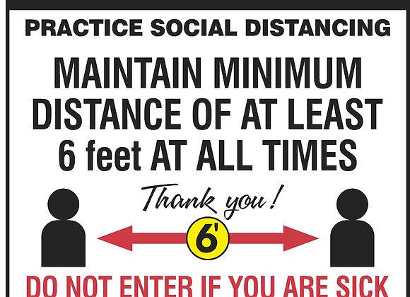 Social Distancing Window Decal