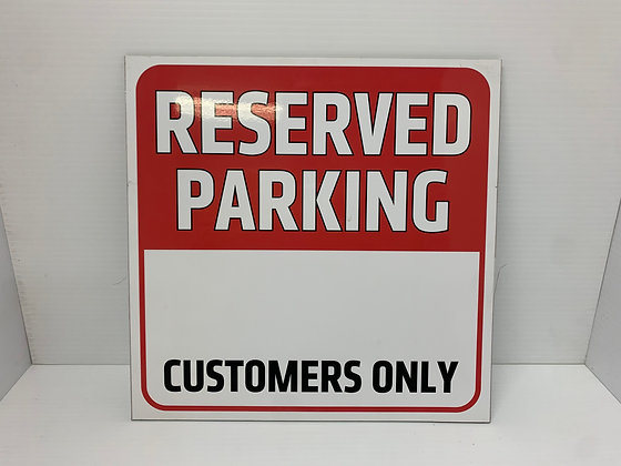 Reserved Parking - Customers Only