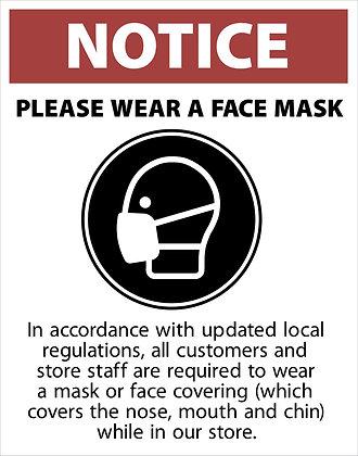 Wear A Mask Window Decal