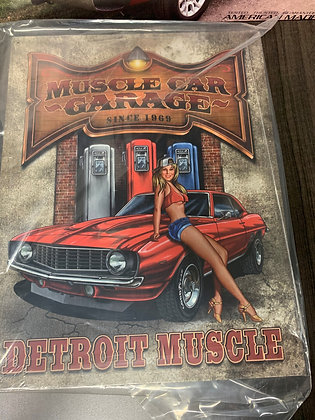 Muscle Car Garage - Sign