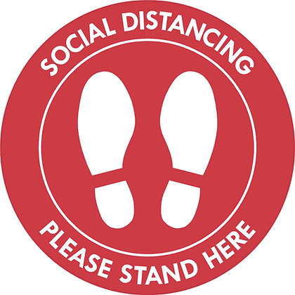 Social Distancing Floor Decal-Text