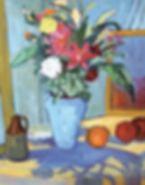 The Blue Vase Oil Painting Vicky Nolan