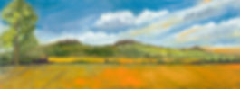 Wittenham Clumps  Oil Painting Vicky Nolan