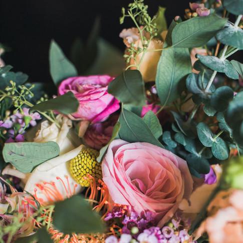 Wedding bouquet inspiration Midlands. Natural winter flowers.