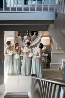 The bridesmaids at The Old Vicarage Boutique Hotel, Nottinghamshire
