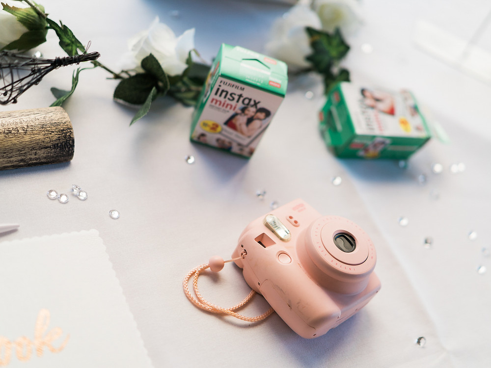 Wedding day details. Fujifilm Instax wedding day photographs. Midlands,