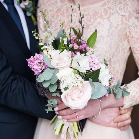 Contemporary wedding photographer in London. Natural floral photograph of bridal bouquet.
