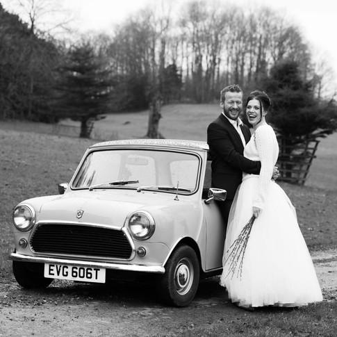 Retro film wedding photography Warwickshire