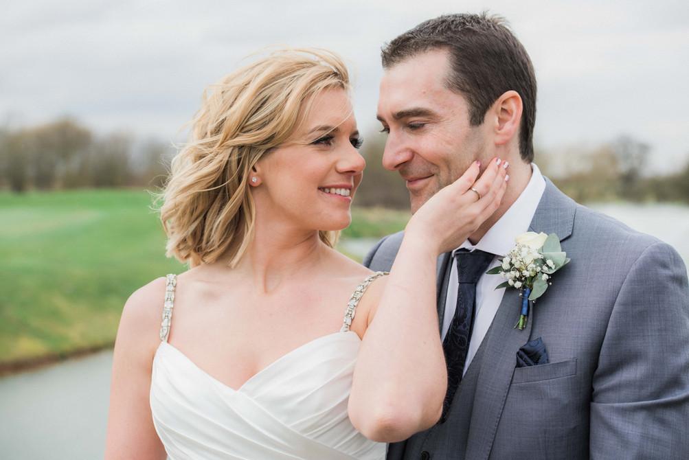 Stunning wedding portrait of the bride and groom. Midlands wedding photographer - Darley and Underwood Photography.