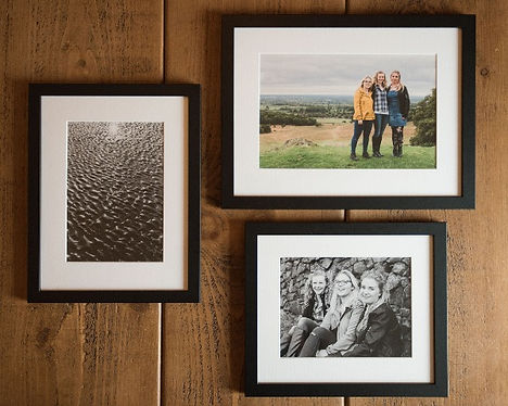 Custom framed giclée and traditional wet prints. Darley and Underwood Photography, Midlands based wedding photographers covering the UK, shooting digital and film photography.