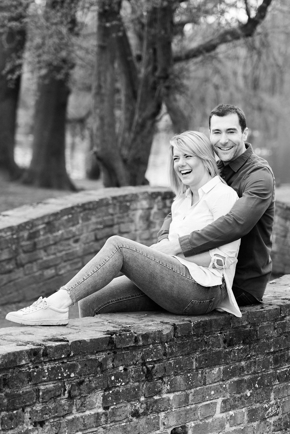 Black and white engagement photography. Film wedding photographers. Darley and Underwood Photography