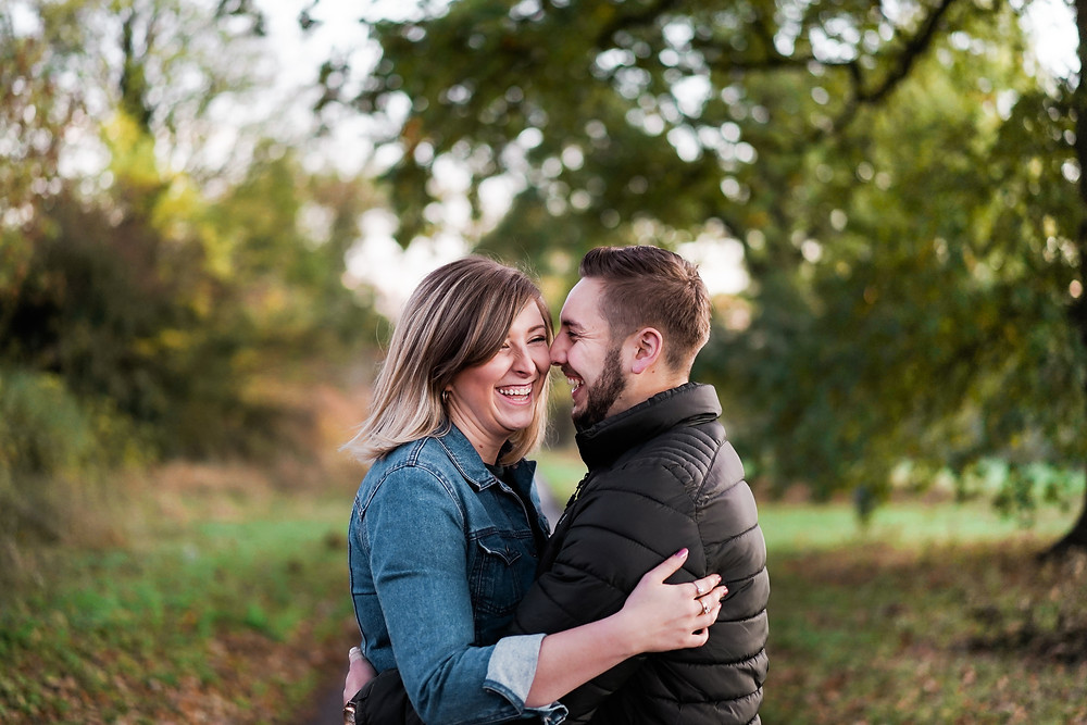 Northamptonshire wedding photography. Autumn engagement shoot in the Midlands