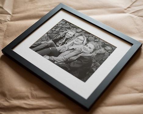 Custom framed Giclée print. Darley and Underwood Photography, Rutland wedding photographers covering the UK, shooting digital and film photography.