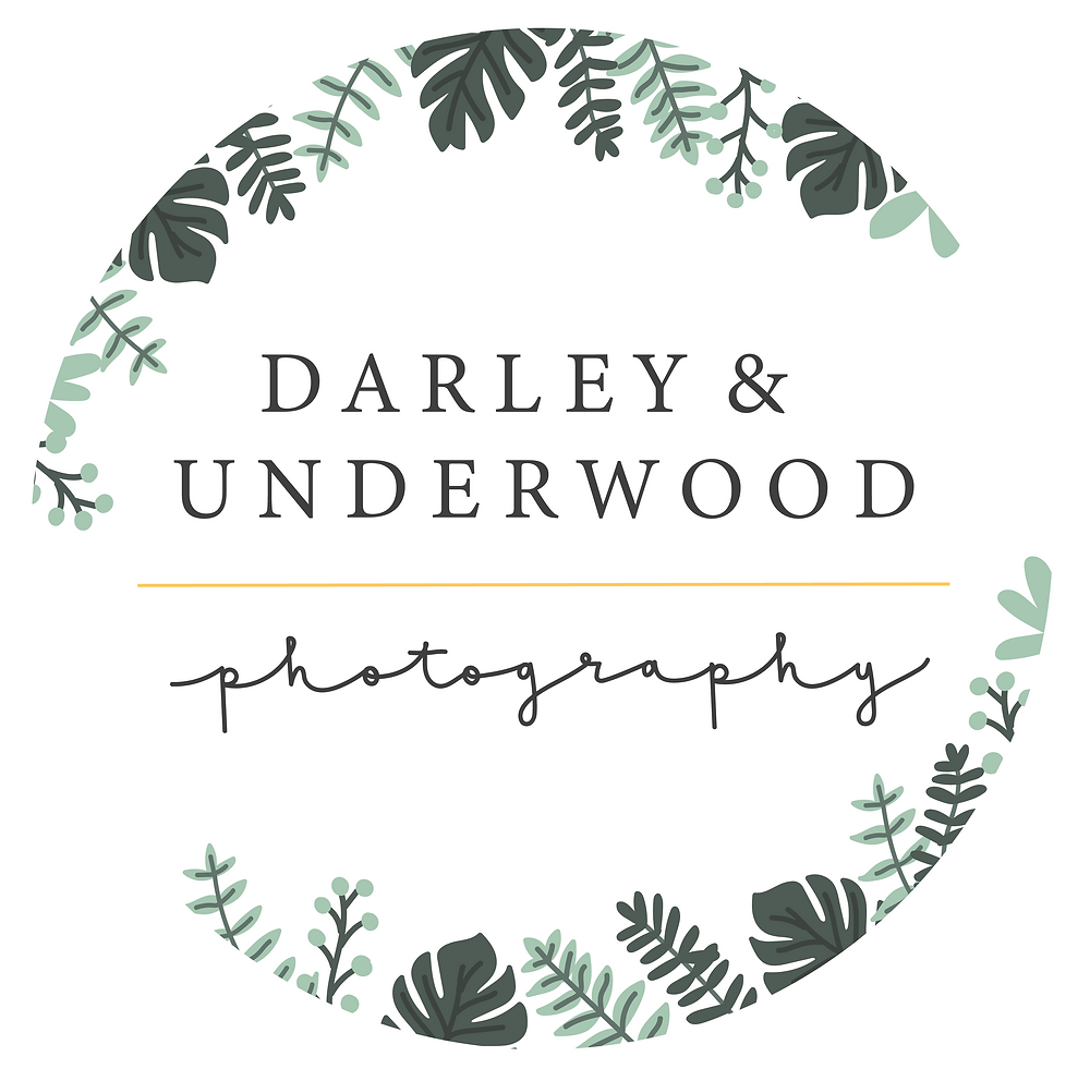 The New Darley and Underwood Photography stamp by Heledd Owen.  Midlands based Wedding Photography Digitally and on Film.