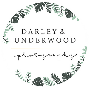 Darley and Underwood Photography alternative logo. Wedding photography and engagement photography shot digitally and on film in the UK and beyond.