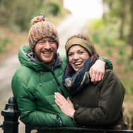Engagement photo shoot in the Leicestershire countryside